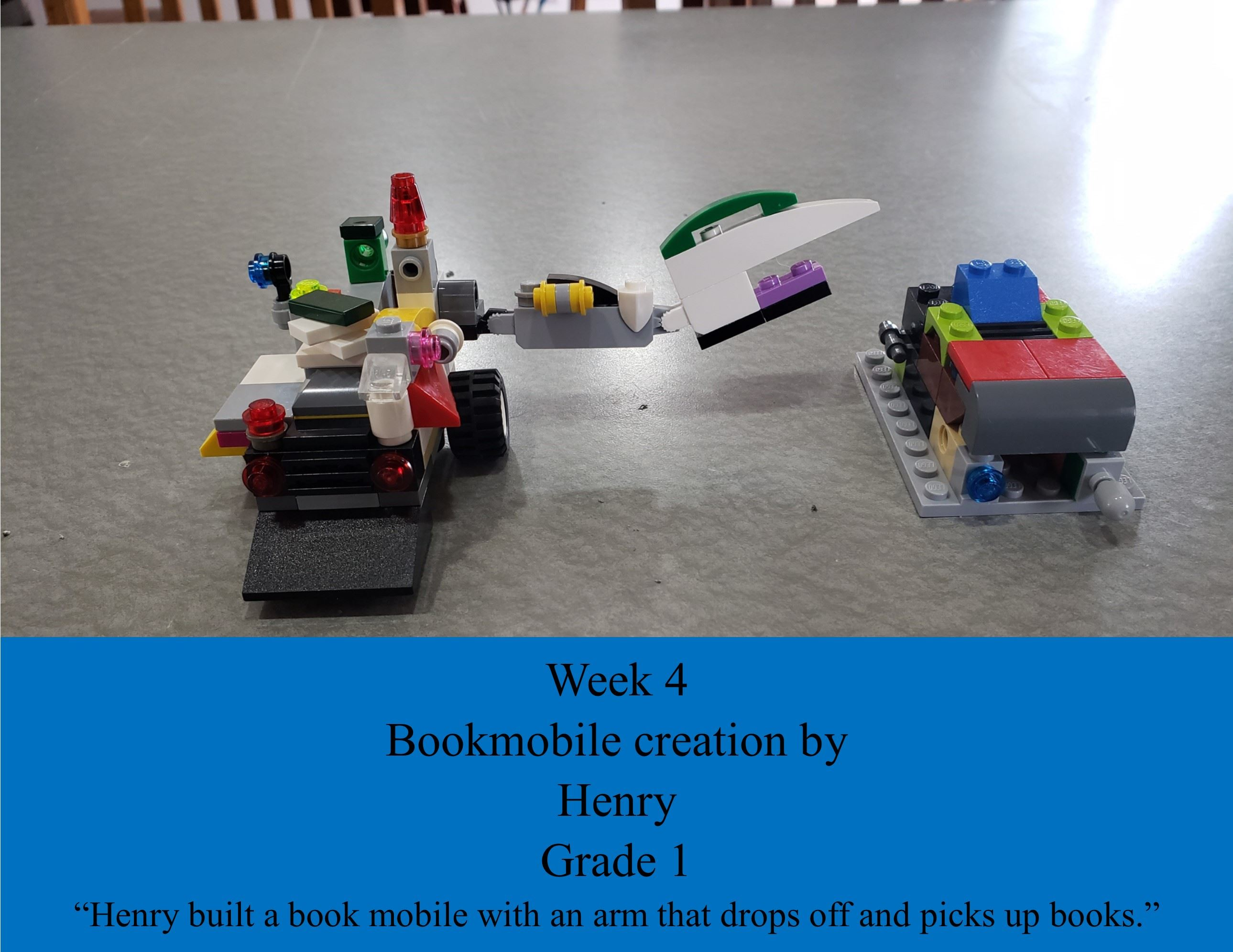 Henry LEGO Bookmobile creation for Week 4 Challenge