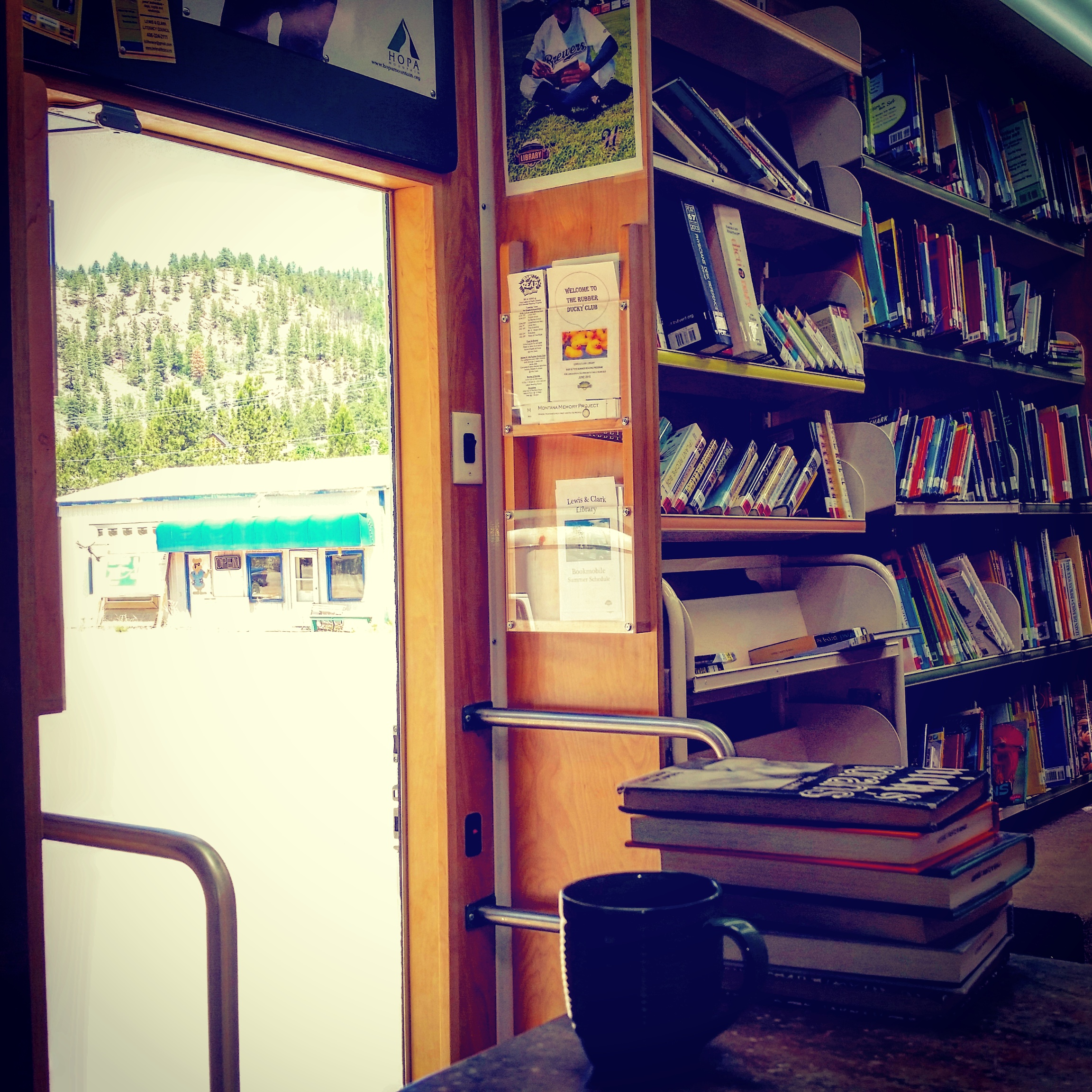 Bookmobile at Wolf Creek Country Store